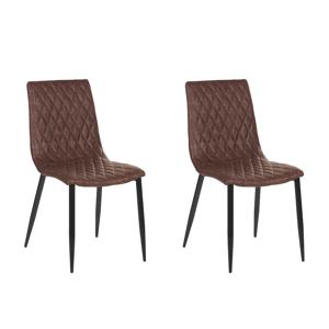 Conjunto de 2 cadeiras na cor marrom vintage - MONTANA