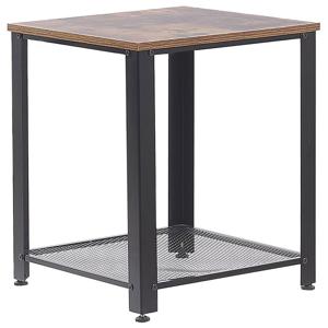 Mesa de apoio efeito madeira escura e preto ASTON