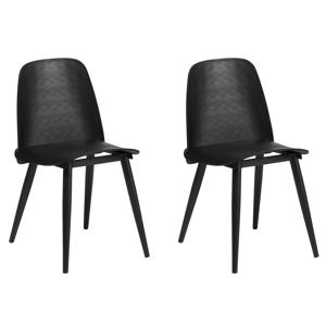 Conjunto de 2 cadeiras de jantar pretas HAMILTON