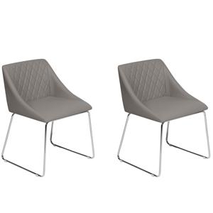 Conjunto de 2 cadeiras cinza - Cadeira de jantar - ARCATA