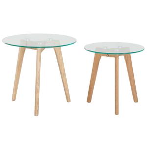 Conjunto de 2 mesas - Tampo de vidro - Mesas de centro - MISSOURI