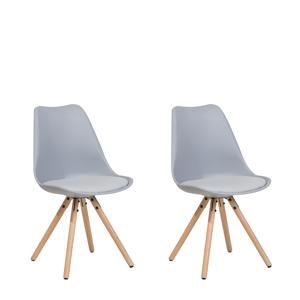 Conjunto de 2 cadeiras de jantar cinza DAKOTA