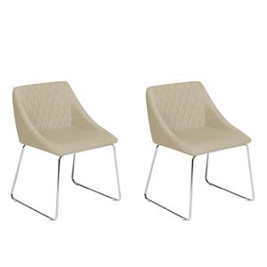 Conjunto de 2 cadeiras bege - Cadeira de jantar - ARCATA