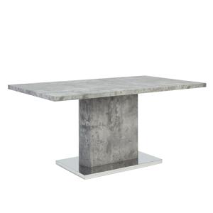Mesa de jantar - Cinza-betão - MDF e metal - PASADENA