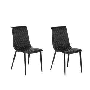 Conjunto de 2 cadeiras na cor preta - MONTANA