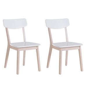Conjunto de 2 cadeiras - Branco - Sala de jantar - Sala - MDF - SANTOS