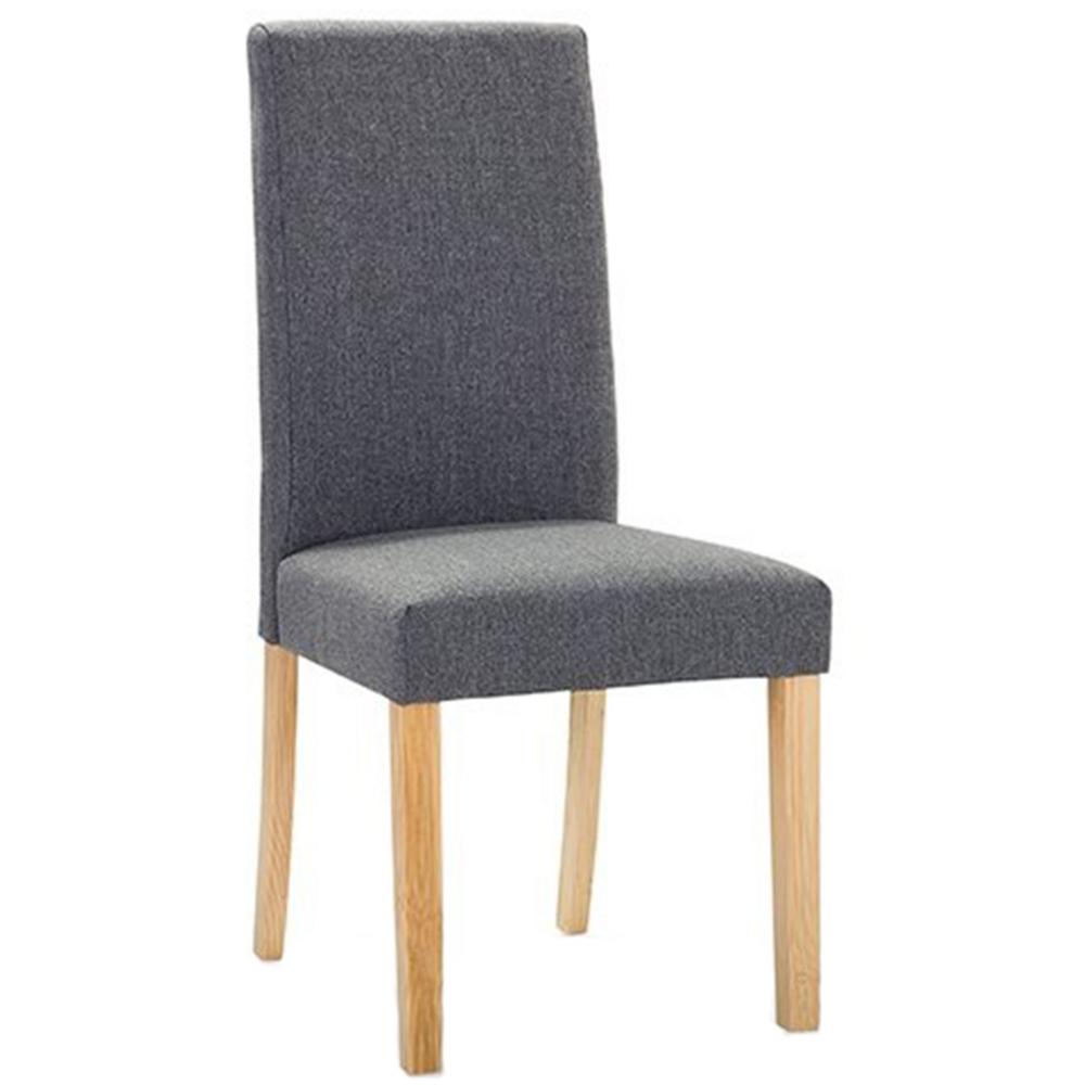 Beliani Cadeira de refeição em tecido cinza BROADWAY