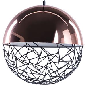 Candeeiro de tecto marrom cobre e preto - Metal - Iluminação - PADMA