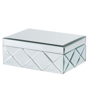 Caixa de joias com efeito espelhado prateado GORRON