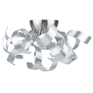 Candeeiro de parede em metal prata ICANA