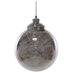 Candeeiro de teto em vidro prata BENI S