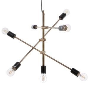 Candeeiro de tecto - Latão - 7 lâmpadas - CREMERA