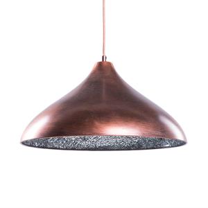 Candeeiro de tecto - Metal e vidro - Bronze - ISKAR
