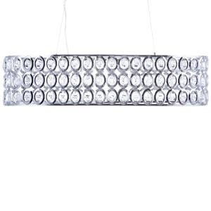 Candeeiro de tecto - Metal cromado e cristal - TENNA L