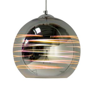 Candeeiro de tecto em vidro - Cor prata cromado - NURE