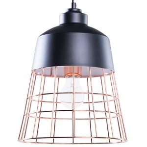Candeeiro de tecto preto e marrom cobre - Metal - Iluminação - MONTE