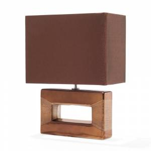 Candeeiro de mesa marrom - Design quadrangular - ONYX