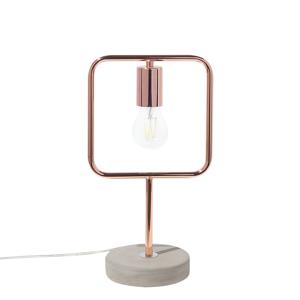 Candeeiro de mesa cor de cobre - MUNDO