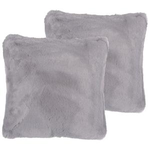 Conjunto de 2 almofadas decorativas 42 x 42 cm cinzento TANDUR