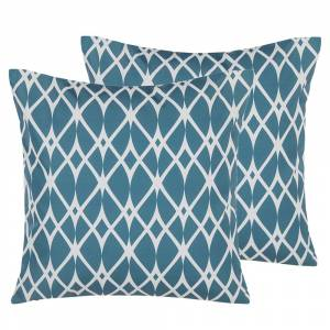 Conjunto de 2 almofadas de jardim 45 x 45 cm azul ANAGNI