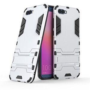 YHcase Huawei Honor View 10 Funda, YHcase [Armor Series] Combinacin A Prueba de Choques Heavy Duty Escudo Cscara Dura PC + Suave TPU Silicona Rubber Case Cover con soporte para Huawei Honor View 10 -Sliver