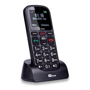Ttfone TT100 Comet - Móvil Libre (USB, Banda Dual, Botones Grandes), Olor Negro