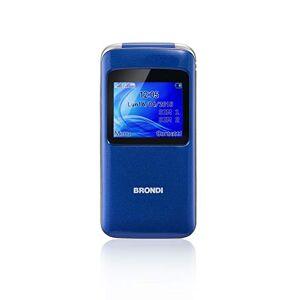 "Brondi Window 4,5 cm (1.77"") 78 g Azul Característica del teléfono - Teléfono móvil (Concha, SIM Doble, 4,5 cm (1.77""), 1,3 MP, 600 mAh, Azul)"