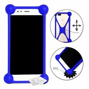Desconocido Carcasa Bumper Azul antigolpes para Ulefone Be Pure Lite de Silicona de Calidad