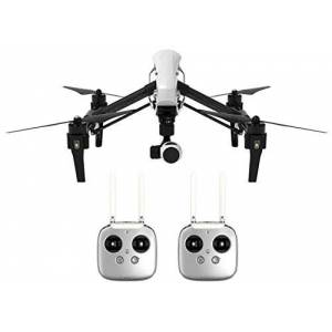 DJI Inspire 1 - Cuadrocóptero con Antena UAV (videocámara Full HD de 4K Integrado y Dos Controladores remotos) Color Negro y Blanco