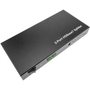 BeMatik - Extensor HDMI UltraHD 4K 2K FullHD 1080p Cat.5e Cat.6 HDBaseT HDBT 100m - Transmisor 2 Puertos (HB045)