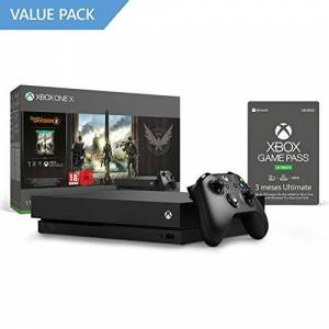 Microsoft Xbox One X Consola 1 TB + División 2 + 3 Meses   Xbox Game Pass Ultimate [Download Code]