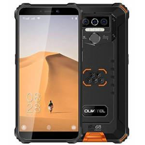 OUKITEL 4G Teléfono Móvil Resistente 2020 OUKITEL WP5, Batería de 8000 mAh, Smartphone Impermeable IP6, 4 Luces de Flash LED, MTK6761 3GB + 32GB, 13MP + 2MP + 2MP, Android 9.0, Reconocimiento Facial Naranja