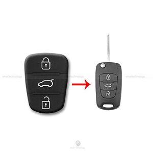 1neiSmartech Llave De Mando Para Coche Con 3 Botones De Goma. Hyundai I20 I30 Y Kia Sorento Picanto
