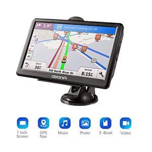 AWANFI GPS Navegador Coche,GPS Navegación Satelital Pantalla de 7 Pulgadas,Aviso Vocal Tráfico y Límite de Velocidad en Tiempo Real,Actualizaciones Gratuitas de Mapa Europeo,Adecuado para 52 Países Europeos