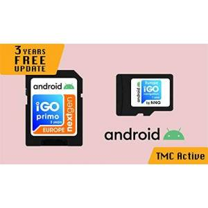 iGO_Primo_NaviShop MicroSD Card with Android Navigation Software iGO Primo NextGen 3D Map 2019 EUR/RUS/TUR For PKW/Truck/Camper/ 3 Years of Free Map Update / 1Year of TMC Active