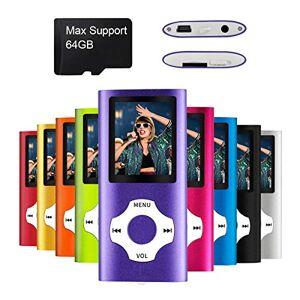 mymahdi MP4 MP3/portátil, 1.8 inch devaient Purple with and LED Screen scheda di memoria Slot, Max soporte 128 GB é T TF Card