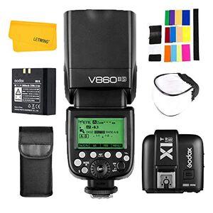 Godox V860II-S 2.4G TTL HSS 1/8000s Li-Ion Bateria Camara Flash + Godox X1T-S Inalambrico Transmisor Disparador para Sony DSLR Camara (V860II-S+X1T-S)