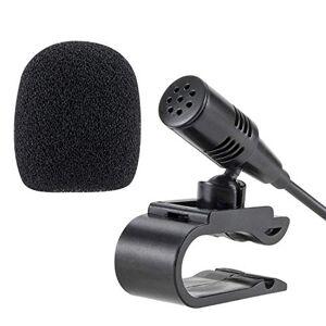 TOYOUSONIC 3.5mm Micrófono Externo para Coche Bluetooth Audio Estéreo Manos Libres Llamada GPS AUX Plug and Play portátil