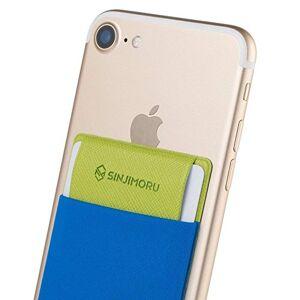 Sinjimoru Funda ultradelgada engomada para Tarjetas o Dinero, diseñada para teléfonos Inteligentes iPhone y Android. Sinji Pouch Flap, Azul.