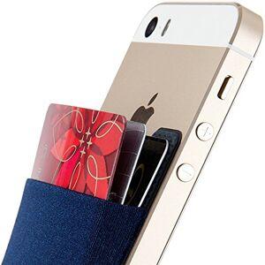 Sinjimoru Stick-on Wallet Que Funciona como Titular de la Tarjeta de crédito, Billetera de Tarjeta de crédito. Sinji Pouch Basic 2, Azul Marino.