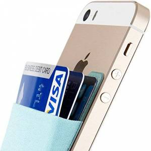 Sinjimoru Stick-on Wallet Que Funciona como Titular de la Tarjeta de crédito, Billetera de Tarjeta de crédito. Sinji Pouch Basic 2, Azul Claro.