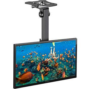 PERLESMITH Soporte TV Techo - Soporte Giratorio Ajustable Inclinable para TV para Pantalla de 17-39 Pulgadas - Soporte de TV para Techo de Movimiento Completo, Soporta hasta 20kg con VESA 200 x 200