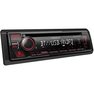 Kenwood KDC-BT430U, Autorradio Iluminación Roja, Receptor CD, USB, Negro