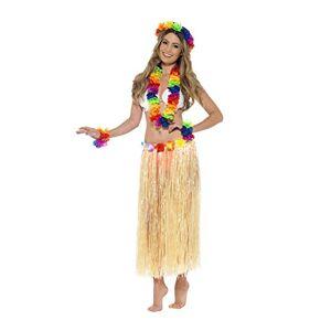 Smiffy's 44592 Conjunto Hawaiano Arco Iris Con Guirnalda, Diadema Y Muequera, Multicolor
