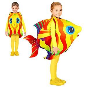 WIDMANN 00045 Disfraz infantil de pez tropical, unisex, amarillo, 116 128 cm