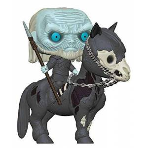 Funko- Pop Rides: Game of Thrones S10: White Walker on Horse Figura Coleccionable, Multicolor, Estndar (37669)