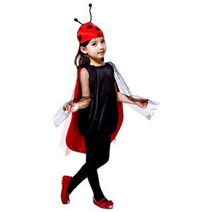 EVRYLON Disfraz de mariquita de carnaval para nia talla 120/130 cm. ladybug cosplay