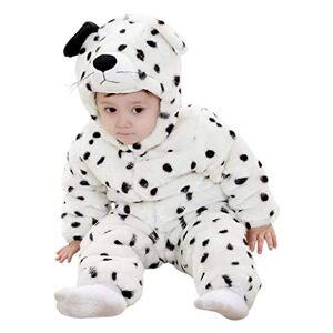 EVRYLON Disfraz de leopardo blanco mono de lana infantil de carnaval 1/2 aos 18/24 meses cosplay