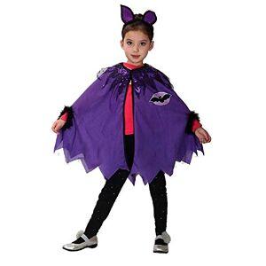 KIRALOVE Disfraz de murcilago - murcilago - Superhroe - nia - disfraces infantiles - halloween - carnaval - cosplay - accesorios - talla m - 110/120 cm - idea de regalo original cosplay