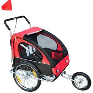 Aosom Atrelado de Bicicleta Vermelho Aosom 18m+